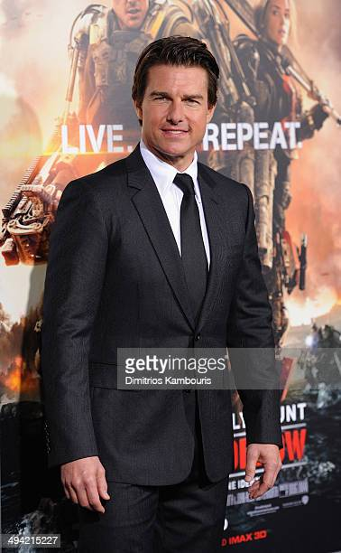Actor Tom Cruise attends the 'Edge Of Tomorrow' red carpet repeat fan premiere tour at AMC Loews Lincoln Square on May 28 2014 in New York City