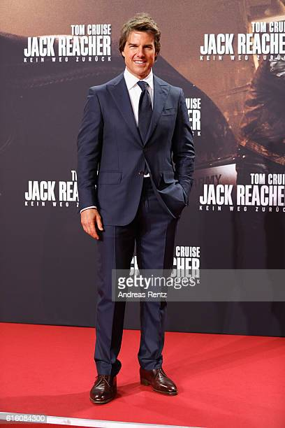 Actor Tom Cruise attends the 'Jack Reacher Never Go Back' Berlin Premiere at CineStar Sony Center Potsdamer Platz on October 21 2016 in Berlin Germany