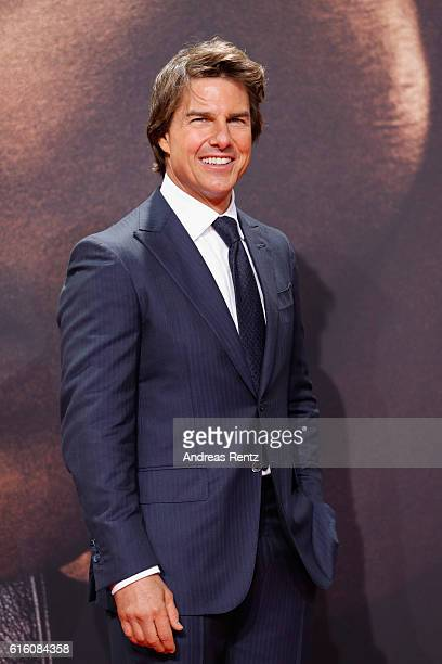 Actor Tom Cruise attends the 'Jack Reacher Never Go Back' Berlin Premiere at CineStar Sony Center Potsdamer Platz on October 21 2016 in Berlin Germany