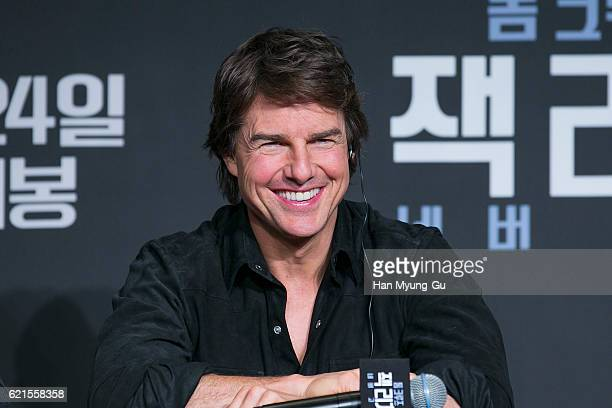 Actor Tom Cruise attends the 'Jack Reacher Never Go Back' press conference on November 7 2016 in Seoul South Korea