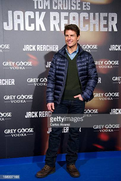 Actor Tom Cruise attends the 'Jack Reacher' premiere at the Callao cinema on December 13 2012 in Madrid Spain