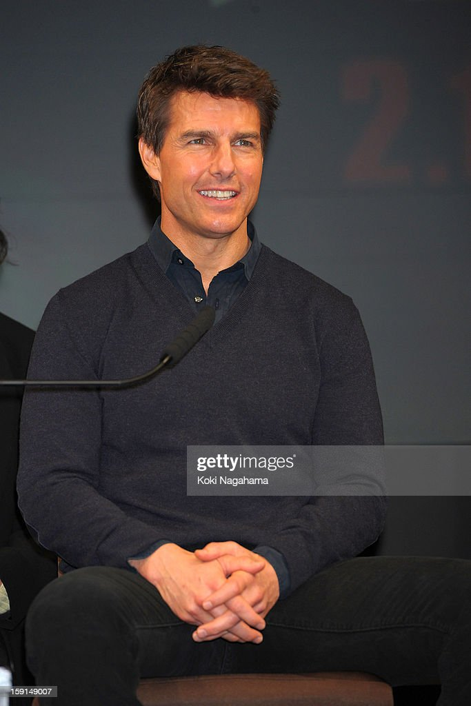 Actor Tom Cruise attends the 'Jack Reacher' press conference at the Ritz Carlton Tokyo on January 9, 2013 in Tokyo, Japan.