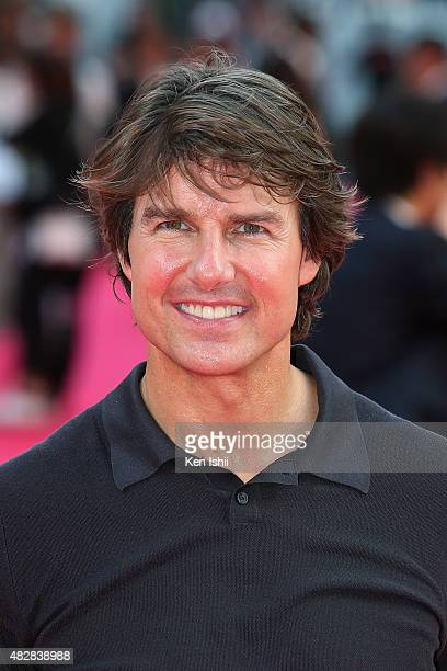 Actor Tom Cruise attends the Japan Premiere of 'Mission Impossible Rogue Nation' at the Toho Cinemas Shinjyuku on August 3 2015 in Tokyo Japan