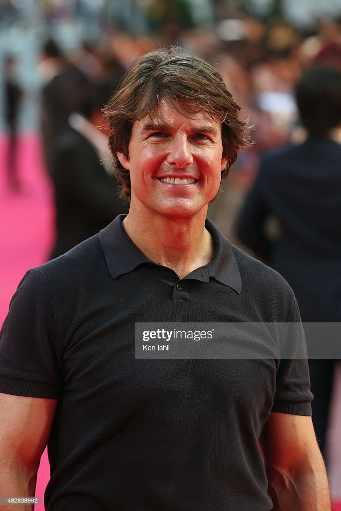 Actor Tom Cruise attends the Japan Premiere of 'Mission: Impossible - Rogue Nation' at the Toho Cinemas Shinjyuku on August 3, 2015 in Tokyo, Japan.