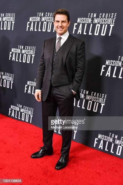 Actor Tom Cruise attends the 'Mission Impossible Fallout' US Premiere at Lockheed Martin IMAX Theater at the Smithsonian National Air Space Museum on...