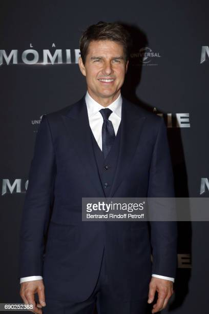 Actor Tom Cruise attends 'The Mummy' Paris Premiere at Le Grand Rex on May 30 2017 in Paris France
