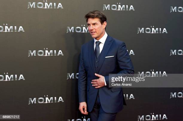 Actor Tom Cruise attends 'The Mummy' premiere at the Callao cinema on May 29 2017 in Madrid Spain