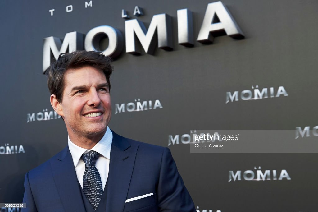 Actor Tom Cruise attends 'The Mummy' (La Momia) premiere at the Callao cinema on May 29, 2017 in Madrid, Spain.