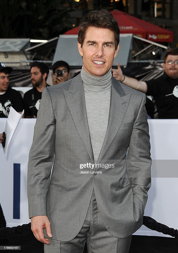 Actor Tom Cruise attends the premiere of 'Oblivion' at the Dolby Theatre on April 10, 2013 in Hollywood, California.