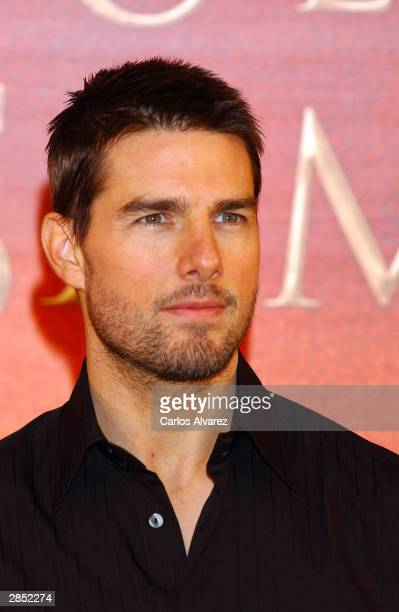 """Actor Tom Cruise attends the Spanish Photocall of """"The Last Samurai"""" at the Villamagna Hotel on January 8, 2004 in Madrid, Spain."""