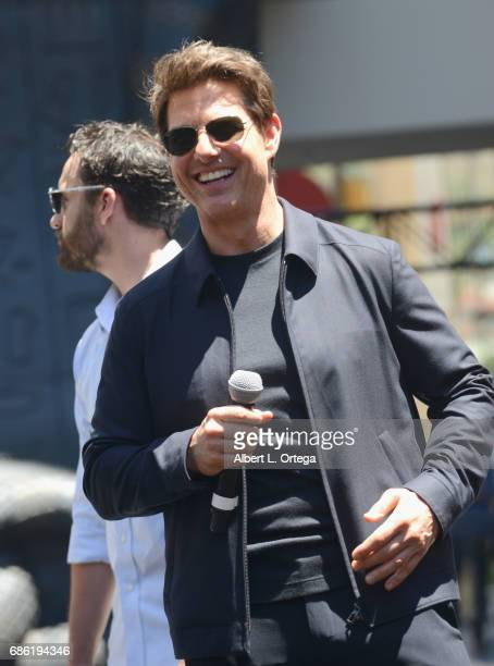 Actor Tom Cruise attends the Universal Celebration of The Mummy Day With a 75Foot Sarcophagus Takeover held at Hollywood Highland on May 20 2017 in...
