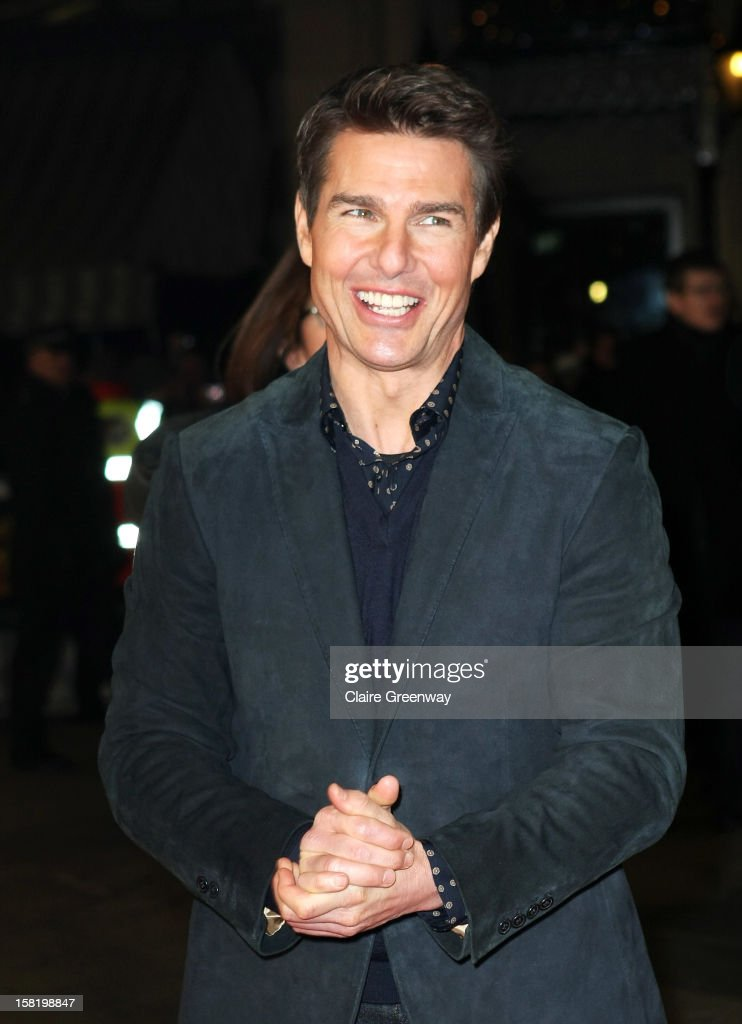 Actor Tom Cruise attends the world premiere of 'Jack Reacher' at The Odeon Leicester Square on December 10, 2012 in London, England.