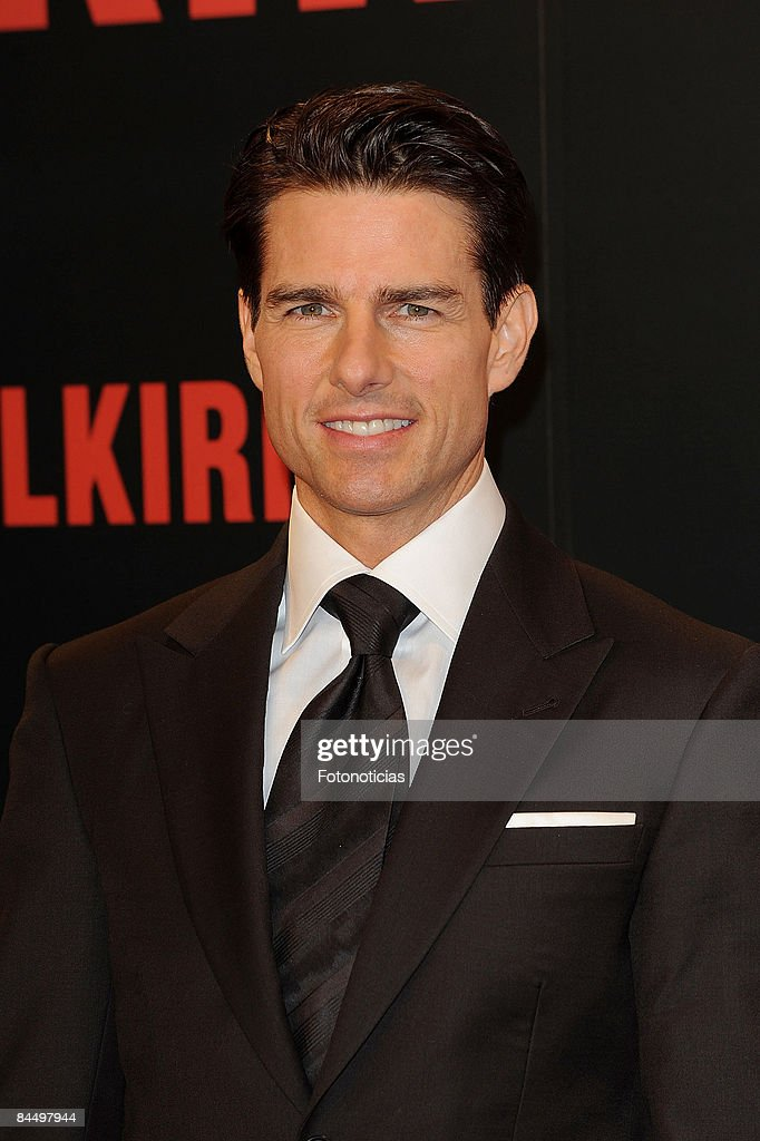 Actor Tom Cruise attends 'Valkyrie' premiere, at the Teatro Real on January 27, 2009 in Madrid, Spain.