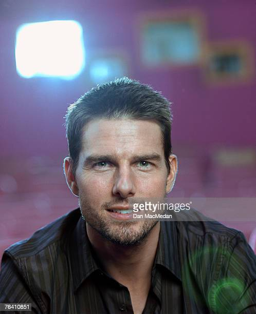 Actor Tom Cruise is photographed for USA Today on November 18 2003 in screening room 5 at Warner Brothers Studios in Burbank California