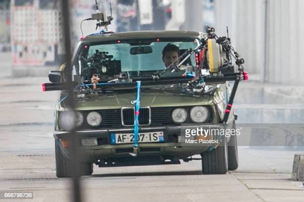Actor Tom Cruise is seen on set for 'MissionImpossible 6 Gemini' filming on April 10 2017 in Paris France