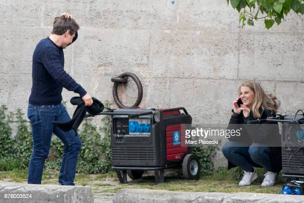 Actor Tom Cruise is seen on the set of 'MissionImpossible 6 Gemini' on May 2 2017 in Paris France