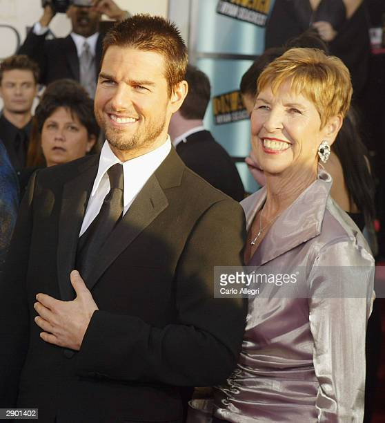 Actor Tom Cruise with his mother Mary attend the 61st Annual Golden Globe Awards at the Beverly Hilton Hotel on January 25 2004 in Beverly Hills...