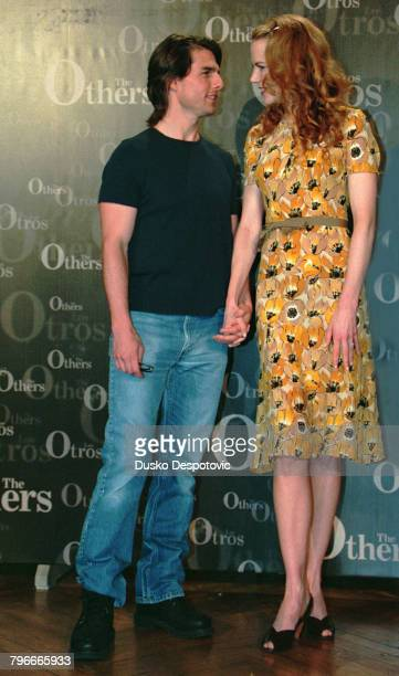 Actor Tom Cruise with his wife Nicole Kidman