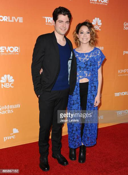 Actor Tom Cullen and actress Tatiana Maslany attend The Trevor Project's 2017 TrevorLIVE LA at The Beverly Hilton Hotel on December 3 2017 in Beverly...