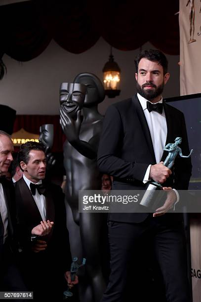 Actor Tom Cullen poses in the press room during the 22nd Annual Screen Actors Guild Awards at The Shrine Auditorium on January 30 2016 in Los Angeles...