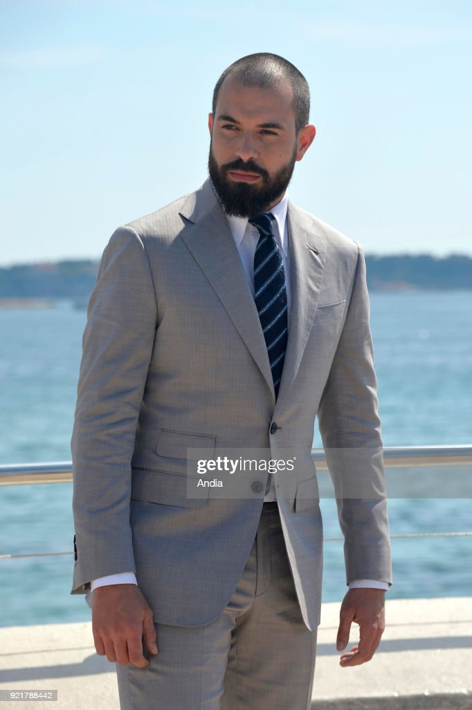 Actor Tom Cullen posing for a photocall on the occasion of the MipTV, International Television Programme Market, in Cannes (south-eastern France) on .
