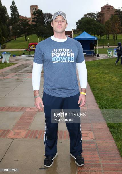 Actor Tom Degnan attends the Power Of Tower run/walk at UCLA on March 11 2018 in Los Angeles California
