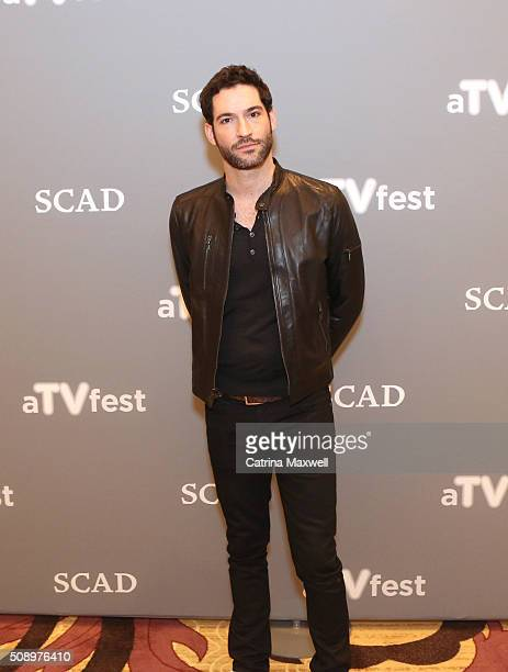 Actor Tom Ellis attends Lucifer event during aTVfest 2016 presented by SCAD on February 7 2016 in Atlanta Georgia