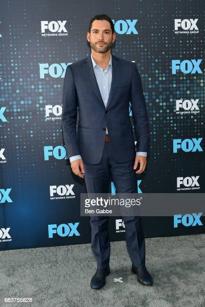 Actor Tom Ellis attends the 2017 FOX Upfront at Wollman Rink on May 15 2017 in New York City