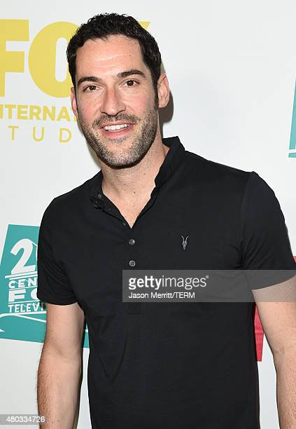 Actor Tom Ellis attends the 20th Century Fox party during ComicCon International 2015 at Andaz Hotel on July 10 2015 in San Diego California