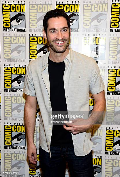 Actor Tom Ellis attends the Lucifer Press Line during ComicCon International 2016 at Hilton Bayfront on July 23 2016 in San Diego California