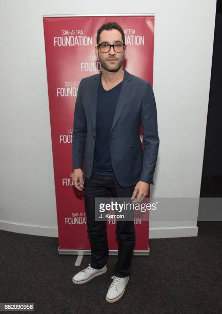 """Actor Tom Ellis attends the SAG-AFTRA Foundation Conversations With Tom Ellis Of """"Lucifer"""" at The Robin Williams Center for Entertainment and Media..."""