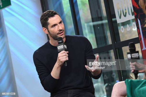 """Actor Tom Ellis visits Build Series to discuss his role in the television show """"Lucifer"""" at Build Studio on May 12, 2017 in New York City."""
