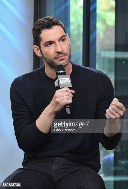 Actor Tom Ellis visits Build Series to discuss his role in the television show 'Lucifer' at Build Studio on May 12 2017 in New York City