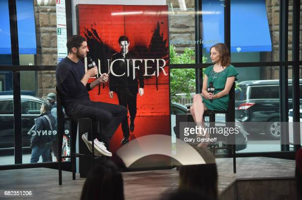 Actor Tom Ellis visits Build Series with moderator Lauren Moraski to discuss his role in the television show 'Lucifer' at Build Studio on May 12 2017...