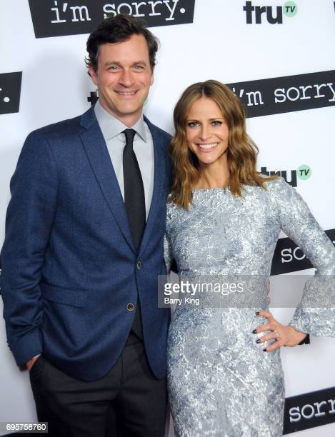 Actor Tom Everett Scott and actress Andrea Savage attend the premiere of truTV's 'I'm Sorry' at SilverScreen Theater at the Pacific Design Center on...