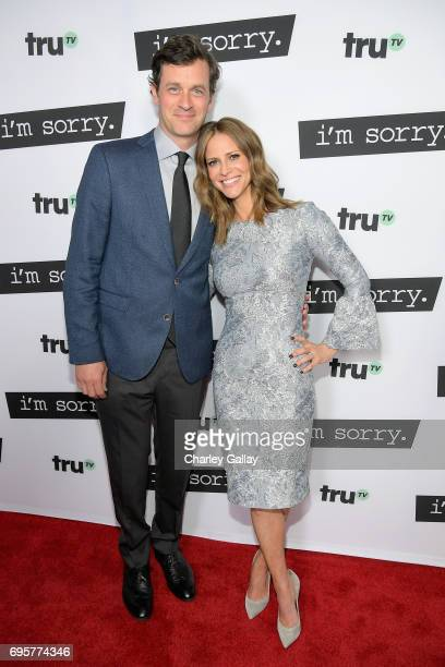 """Actor Tom Everett Scott and Writer/producer/actor Andrea Savage at the premiere screening of truTV's new scripted comedy """"I'm Sorry"""" at the..."""