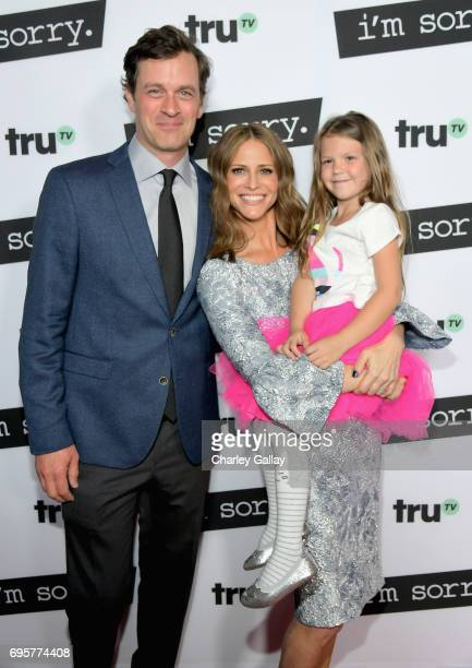 """Actor Tom Everett Scott Writer/producer/actor Andrea Savage and Actor Olive Petrucci at the premiere screening of truTV's new scripted comedy """"I'm..."""