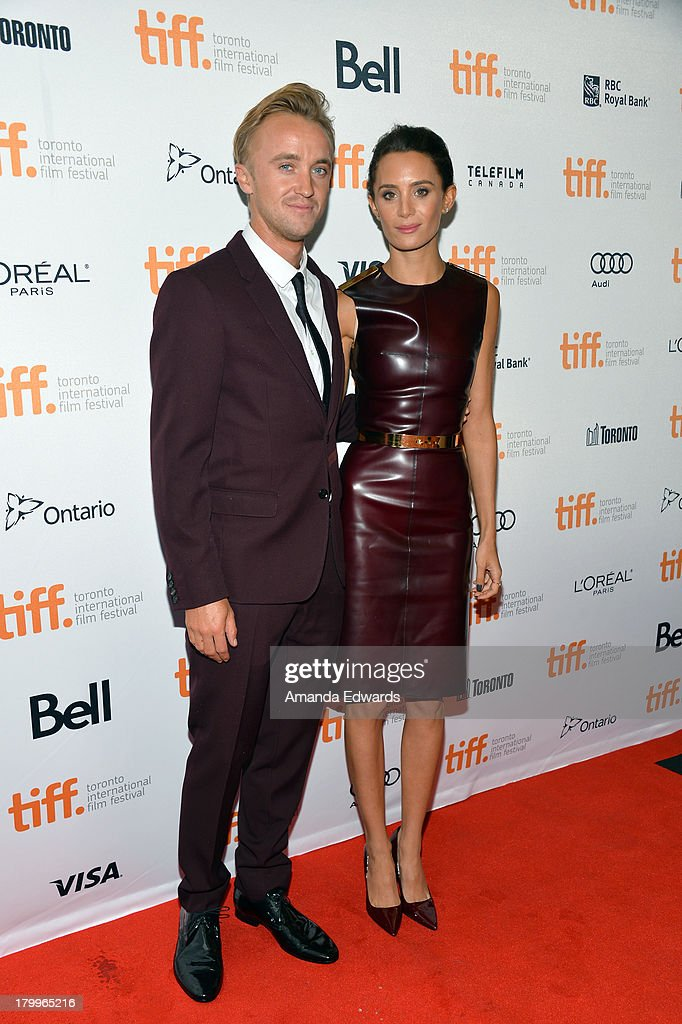 Actor Tom Felton (L) and girlfriend Jade Olivia attend the 'Therese' premiere during the 2013 Toronto International Film Festival at Isabel Bader Theatre on September 7, 2013 in Toronto, Canada.