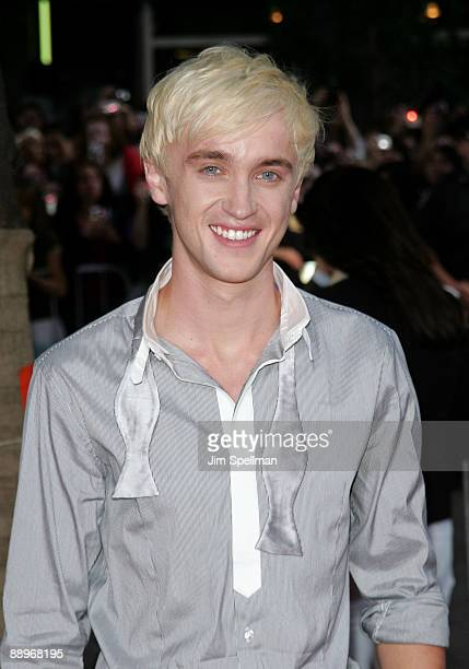 Actor Tom Felton and guest attend the 'Harry Potter and the HalfBlood Prince' premiere at Ziegfeld Theatre on July 9 2009 in New York City