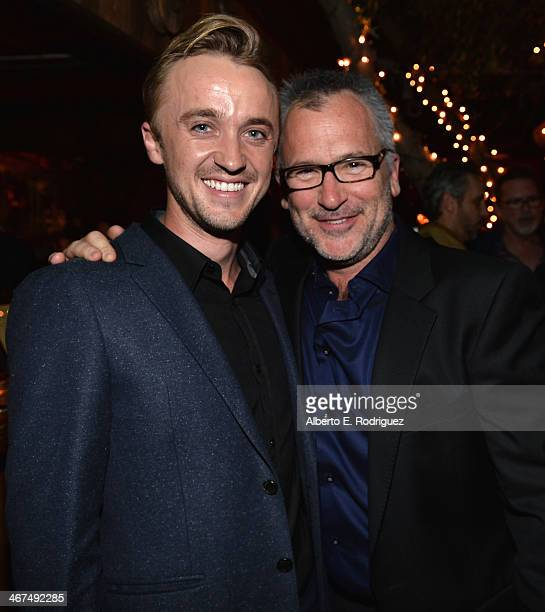 Actor Tom Felton and writer/director Charlie Stratton attend the after party for the Los Angeles premiere of Roadside Attractions and LD...