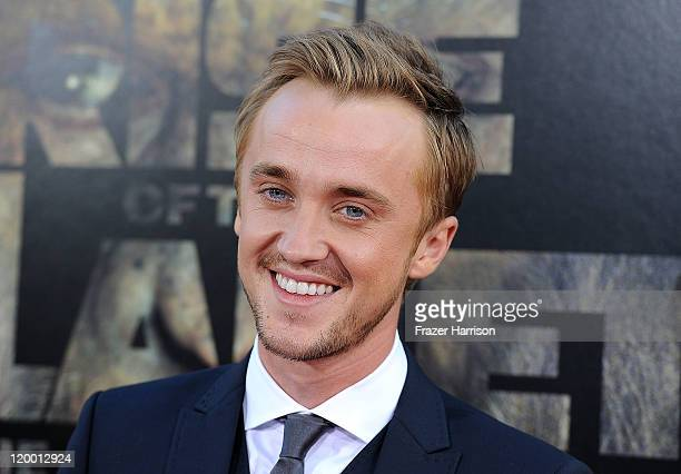 Actor Tom Felton arrives at the Premiere of 20th Century Fox's 'Rise of the Planet of the Apes' at Grauman's Chinese Theatre on July 28 2011 in Los...