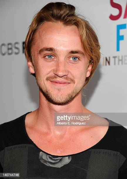 Actor Tom Felton arrives to the premiere of CBS Films' 'Salmon Fishing In the Yemen' at Directors Guild Of America on March 5 2012 in Los Angeles...