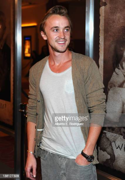 Actor Tom Felton arrives to the Premiere of CBS Films' 'The Woman In Black' at Pacific Theaters at the Grove on February 2 2012 in Los Angeles...