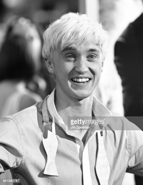 Actor Tom Felton attend the Harry Potter and the HalfBlood Prince premiere at Ziegfeld Theatre on July 9 2009 in New York City