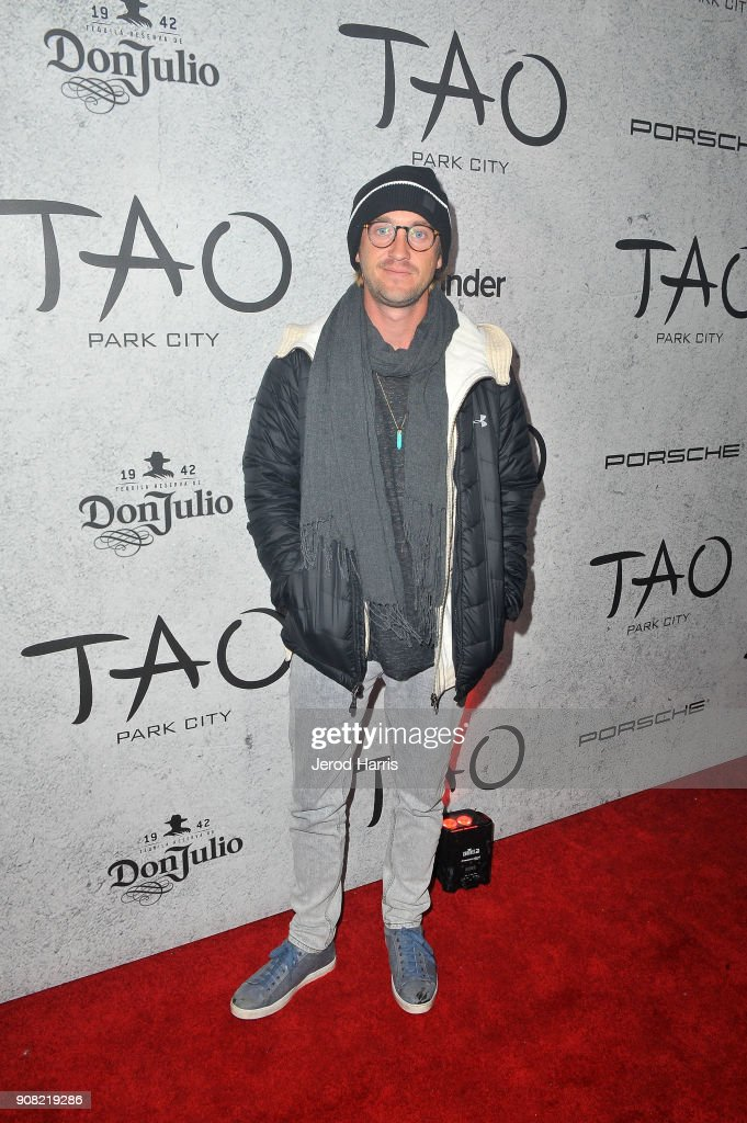 Actor Tom Felton attends TAO Park City Presented by Tinder and Tequila Don Julio at TAO Park City on January 20, 2018 in Park City, Utah.