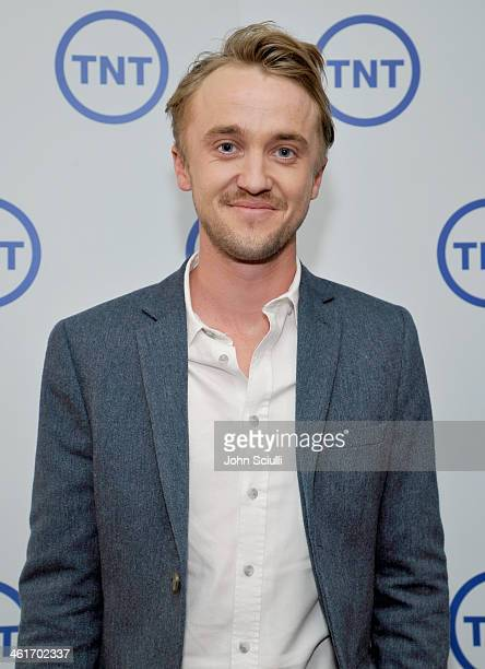 Actor Tom Felton attends the 2014 TCA Winter Press Tour Turner Broadcasting Presentation on January 10 2014 in Pasadena California