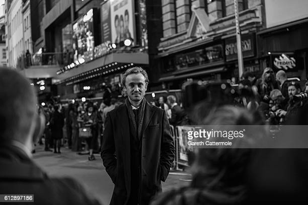 Actor Tom Felton attends the 'A United Kingdom' Opening Night Gala screening during the 60th BFI London Film Festival at Odeon Leicester Square on...