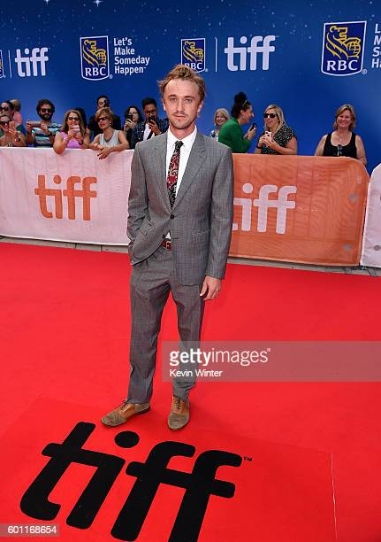 """Actor Tom Felton attends the """"A United Kingdom"""" premiere during the 2016 Toronto International Film Festival at Roy Thomson Hall on September 9, 2016..."""