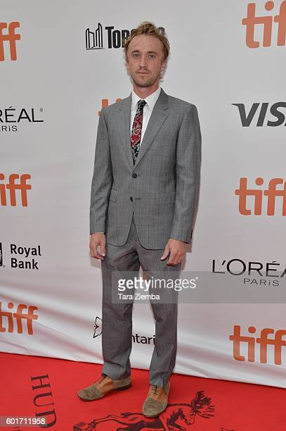 Actor Tom Felton attends the premiere of 'A United Kingdom' at the Toronto International Film Festival at Roy Thomson Hall on September 9 2016 in...