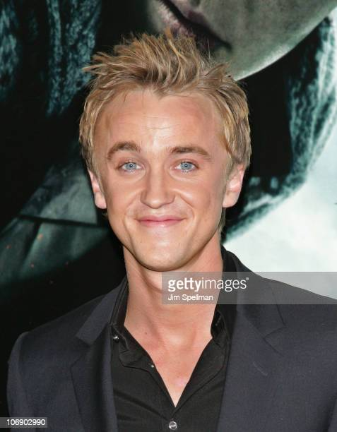 Actor Tom Felton attends the premiere of 'Harry Potter and the Deathly Hallows Part 1' at Alice Tully Hall on November 15 2010 in New York City